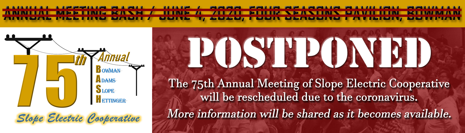 2020 Annual Meeting Postponed
